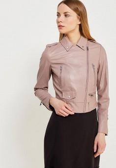 Куртка кожаная, Lusio, цвет: розовый. Артикул: LU018EWAHKA4. Одежда / Верхняя одежда