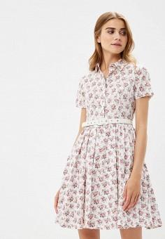 Платье, Lusio, цвет: белый. Артикул: LU018EWBYFM1. Одежда / Платья и сарафаны