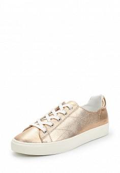 Кеды, Mango, цвет: золотой. Артикул: MA002AWAQXZ6. Обувь / Кроссовки и кеды / Кеды
