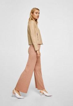 Куртка, Mango, цвет: бежевый. Артикул: MA002EWAFNB0. Одежда / Верхняя одежда / Кожаные куртки