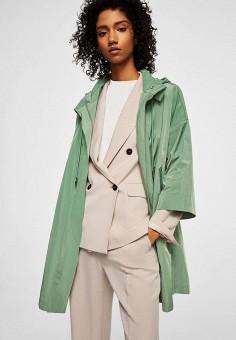 Парка, Mango, цвет: зеленый. Артикул: MA002EWAQUR4. Одежда / Верхняя одежда / Легкие куртки и ветровки