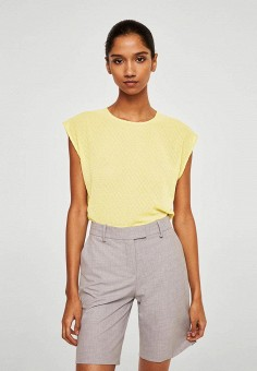 Блуза, Mango, цвет: желтый. Артикул: MA002EWBGVX6. Одежда