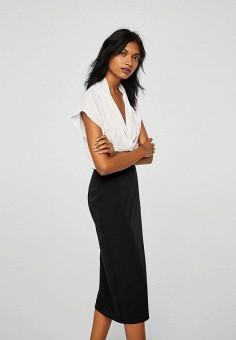 Платье, Mango, цвет: черный. Артикул: MA002EWBIIJ1. Одежда