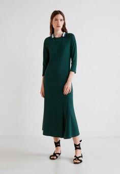 Платье, Mango, цвет: зеленый. Артикул: MA002EWCART1. Одежда / Платья и сарафаны
