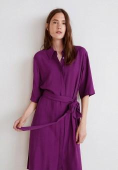 Платье, Mango, цвет: фиолетовый. Артикул: MA002EWCARV0. Одежда / Платья и сарафаны