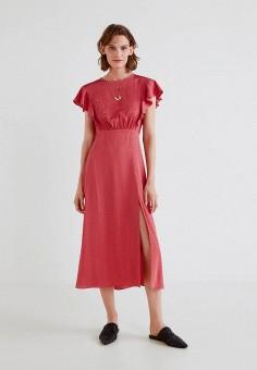 Платье, Mango, цвет: розовый. Артикул: MA002EWCARW4. Одежда / Платья и сарафаны