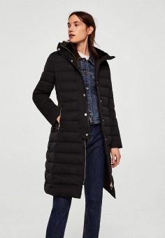 Пуховик, Mango, цвет: черный. Артикул: MA002EWCBVC2. Одежда / Верхняя одежда / Зимние куртки