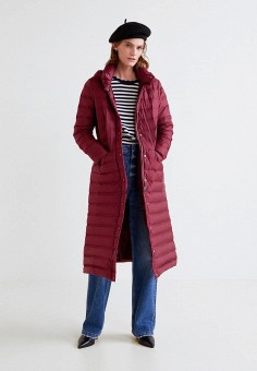 Пуховик, Mango, цвет: красный. Артикул: MA002EWCBVG8. Одежда / Верхняя одежда / Зимние куртки