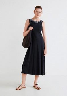 Платье, Mango, цвет: черный. Артикул: MA002EWCBVO1. Одежда / Платья и сарафаны