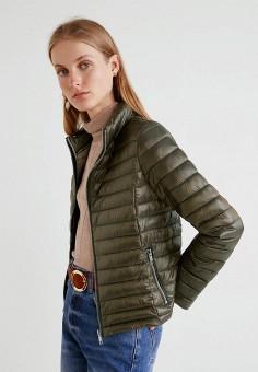 Куртка утепленная, Mango, цвет: хаки. Артикул: MA002EWCGJD0. Одежда / Верхняя одежда / Демисезонные куртки