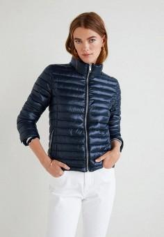 Куртка утепленная, Mango, цвет: синий. Артикул: MA002EWCGJT7. Одежда / Верхняя одежда / Демисезонные куртки
