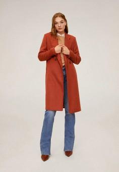 Пальто Mango 67031004, цвет красный, размер