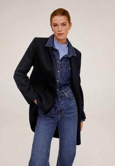 Пальто Mango 67053253, цвет черный, размер