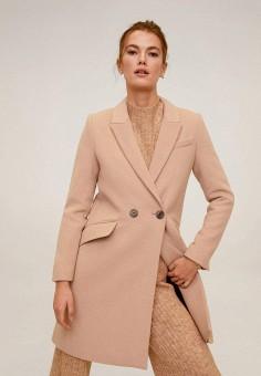 Пальто Mango, цвет розовый, размер 40 INT
