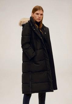 Куртка утепленная Mango 67070533, цвет черный