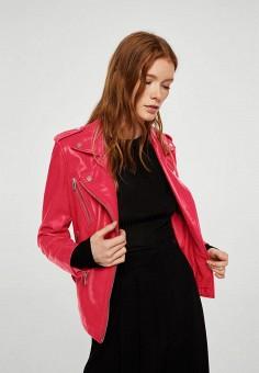 Куртка, Mango, цвет: красный. Артикул: MA002EWJZZU0. Одежда / Верхняя одежда / Косухи