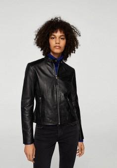 Куртка, Mango, цвет: черный. Артикул: MA002EWZZM22. Одежда / Верхняя одежда / Кожаные куртки
