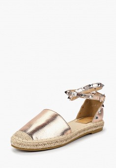 Эспадрильи, Max Shoes, цвет: золотой. Артикул: MA095AWBSRU0. Обувь