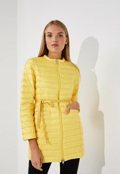 Пуховик, Max&Co, цвет: желтый. Артикул: MA111EWBYAL1. Premium / Одежда / Верхняя одежда / Зимние куртки