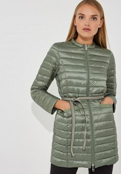 Пуховик, Max&Co, цвет: зеленый. Артикул: MA111EWBYAL2. Одежда / Верхняя одежда / Зимние куртки