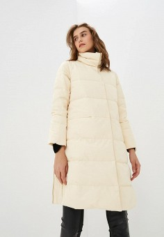Пуховик, Max&Co, цвет: бежевый. Артикул: MA111EWBYAL4. Premium / Одежда / Верхняя одежда / Зимние куртки