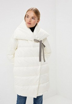Пуховик, Max&Co, цвет: белый. Артикул: MA111EWBYAL6. Одежда / Верхняя одежда / Зимние куртки
