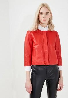 Куртка кожаная, Max&Co, цвет: красный. Артикул: MA111EWZUN34. Одежда / Верхняя одежда