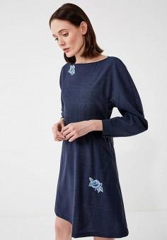 Платье, Max&Co, цвет: синий. Артикул: MA111EWZUN55. Одежда / Платья и сарафаны