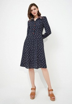 Платье, Max&Co, цвет: синий. Артикул: MA111EWZUN60. Одежда / Платья и сарафаны