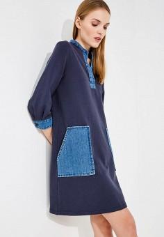 Платье, Max&Co, цвет: синий. Артикул: MA111EWZUP04. Одежда / Платья и сарафаны