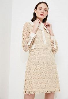 Платье, Max&Co, цвет: бежевый. Артикул: MA111EWZUQ85. Одежда / Платья и сарафаны