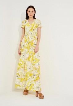 Платье, Max&Co, цвет: желтый. Артикул: MA111EWZUQ90. Одежда / Платья и сарафаны