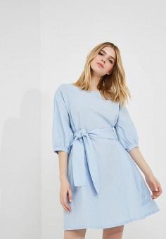 Платье, Max&Co, цвет: голубой. Артикул: MA111EWZUQ93. Одежда / Платья и сарафаны