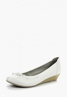 Туфли, Marco Tozzi, цвет: белый. Артикул: MA143AWAGCF1. Обувь / Туфли / Закрытые туфли