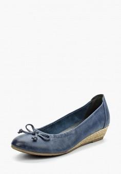 Туфли, Marco Tozzi, цвет: синий. Артикул: MA143AWAGCF2. Обувь / Туфли / Закрытые туфли