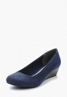 Туфли, Marco Tozzi, цвет: синий. Артикул: MA143AWAGCF5. Обувь / Туфли / Закрытые туфли