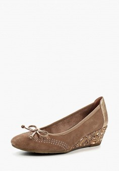 Туфли, Marco Tozzi, цвет: коричневый. Артикул: MA143AWAGCF8. Обувь / Туфли / Закрытые туфли