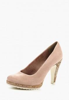 Туфли, Marco Tozzi, цвет: розовый. Артикул: MA143AWAGCG9. Обувь / Туфли / Закрытые туфли