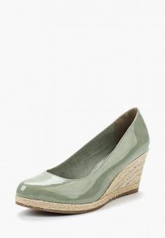 Туфли, Marco Tozzi, цвет: зеленый. Артикул: MA143AWAGCK7. Обувь / Туфли / Закрытые туфли