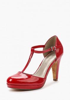 Туфли, Marco Tozzi, цвет: красный. Артикул: MA143AWAGCS8. Обувь / Туфли / Закрытые туфли