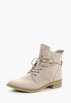 Ботинки, Marco Tozzi, цвет: бежевый. Артикул: MA143AWAGCU7. Обувь