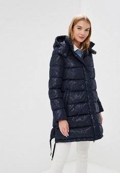 Пуховик, Madzerini, цвет: синий. Артикул: MA156EWCJZP3. Одежда / Верхняя одежда / Зимние куртки
