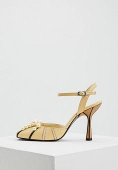 Босоножки, Marni, цвет: желтый. Артикул: MA177AWZSR74. Premium / Обувь / Босоножки