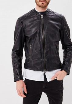 Куртка кожаная, Marc O'Polo, цвет: черный. Артикул: MA266EMAKZQ8. Одежда / Верхняя одежда / Кожаные куртки