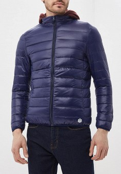 Пуховик, MeZaGuz, цвет: синий. Артикул: ME004EMARGC6. Одежда / Верхняя одежда / Пуховики и зимние куртки