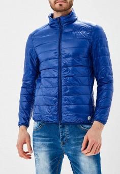 Пуховик, MeZaGuz, цвет: синий. Артикул: ME004EMARGI2. Одежда / Верхняя одежда / Пуховики и зимние куртки