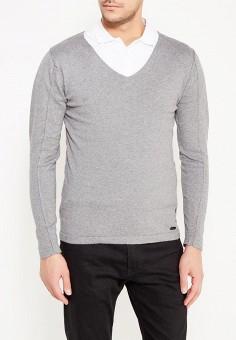 Пуловер, MeZaGuz, цвет: серый. Артикул: ME004EMYUQ43. Одежда / Джемперы, свитеры и кардиганы
