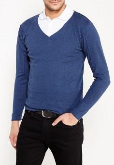 Пуловер, MeZaGuz, цвет: синий. Артикул: ME004EMYUQ45. Одежда / Джемперы, свитеры и кардиганы