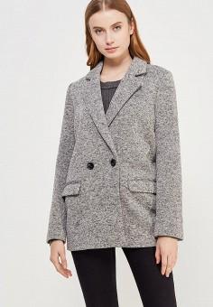 Полупальто, Miss Selfridge, цвет: серый. Артикул: MI035EWADDJ5. Одежда / Верхняя одежда / Пальто