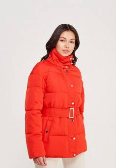 Куртка утепленная, Miss Selfridge, цвет: красный. Артикул: MI035EWZLT22. Одежда / Верхняя одежда